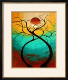Twisting Love Framed Photographic Print by Megan Aroon Duncanson