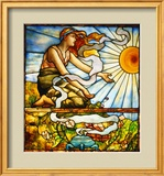 A Fine Leaded and Plate Glass Window, circa 1895 Framed Giclee Print by  Tiffany Studios