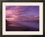 Sunset and the Ocean, CA Framed Photo by Mitch Diamond