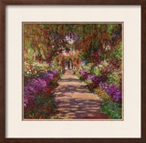 Path in Monet's Garden, Giverny Framed Giclee Print by Claude Monet