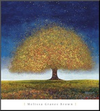 Dreaming Tree Blue Mounted Print by Melissa Graves-Brown