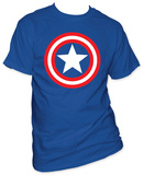 Captain America - Shield on Royal Shirts