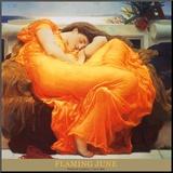 Płomienna Junona, ok. 1895 (Flaming June, c.1895) Umocowany wydruk autor Frederick Leighton