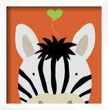 Peek-a-Boo XII, Zebra Art by Yuko Lau