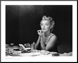 Marilyn Monroe, Back Stage Mounted Print by Sam Shaw