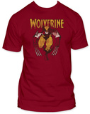 Wolverine - Wolverine on Red Shirts