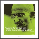 Gandhi: Eye for an Eye Mounted Print