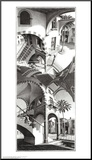 High and Low Mounted Print by M. C. Escher