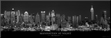Manhattan at Night, New York City Mounted Print by Richard Sisk