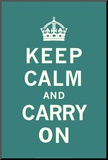Keep Calm and Carry On Monteret tryk