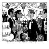 """By the time we can marry in all fifty states, we'll probably be divorced. - New Yorker Cartoon Premium Giclee Print by William Haefeli"