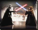 Star Wars-Vader vs Obi Wan Stretched Canvas Print