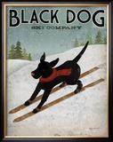 Black Dog Ski Art by Ryan Fowler