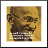 Gandhi: Live and Learn Mounted Print