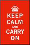 Keep Calm and Carry On Mounted Print