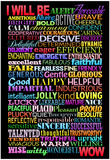 I Will Be Motivational Art Poster Print Poster