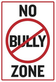 No Bully Zone Classroom Poster Masterprint
