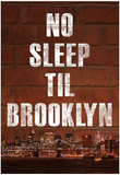 No Sleep Til Brooklyn Music Poster Póster