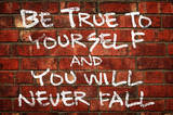 Be True To Yourself And You Will Never Fall Music Poster Masterprint
