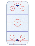 Hockey Rink Layout Sports Poster Masterprint