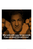 Rocky Marciano Knock Out iNspire Quote Poster Masterprint