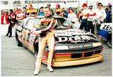 Rusty Wallace with Car and Crew Archival Photo Sports Poster Print Posters