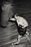 Rocky Marciano Punching Bag Archival Photo Sports Poster Print Masterprint