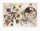 Trait transversal  Posters par Wassily Kandinsky