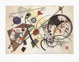 Durchgehender Strich Poster von Wassily Kandinsky
