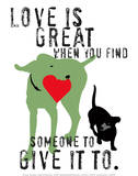 Love Is Great Posters af Ginger Oliphant