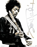 Jimi Hendrix Black & White Photo
