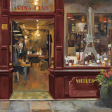 Parisian Wine Shop Red Crop Prints by Marilyn Hageman