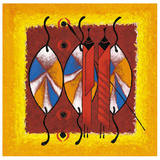 Massai Bouclier Posters par Christian Keramidas