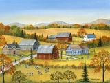 Farm In The Fall Prints by Sharon Mark