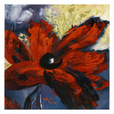 Red Flower I Art by Nathalie Poulin