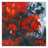 Red Poppies I Prints by Nathalie Poulin