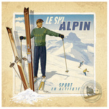 Ski Alpin Posters by Bruno Pozzo