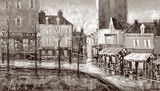 Vue De Paris Prints by Aleksandre Kukolj