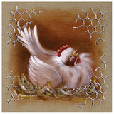 Poule Tete Haute Poster by Stephanie Holbert