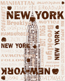 New York New York Art by  Freyman