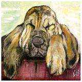 Chien Beige Prints by  Clauva