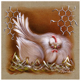 Poule Yeux Fermes Prints by Stephanie Holbert