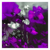 Purple Flowers II Posters by Nathalie Poulin