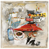 Paris Metro Print by  Lizie