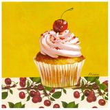 Cupcake Cerise Prints by Pascal Cessou