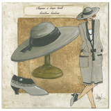 Chapeau Larges Bords Print by Véronique Didier-Laurent