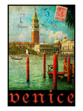 Venice, San Marco, Canale Grande Giclee-tryk i høj kvalitet af Chris Vest
