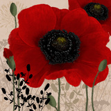 Red Poppies I Prints by Linda Wood