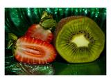 Strawberry Kiwi Mist Wydruk giclee premium autor Connie Publicover