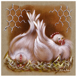2 Poules Posters by Stephanie Holbert